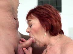 Ginger gilf mouth jizzed