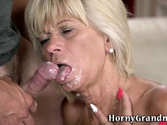 Fingerfucked gran plowed