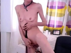 Skinny Granny Near Webcam..