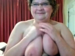 Busty BBW Granny At bottom..