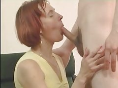 Redhead Mature in Stockings..