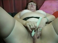 Granny Puts on Stockings..