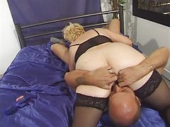 Granny in Stockings Toyed..