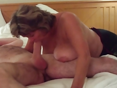 Busty Of age Swallows All of..