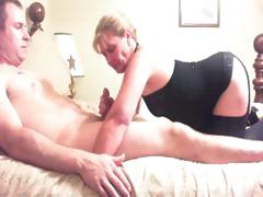 Fat guy and slut wife play..