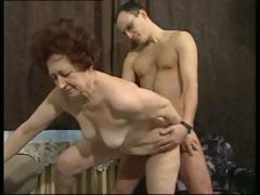 German brunette granny gets..