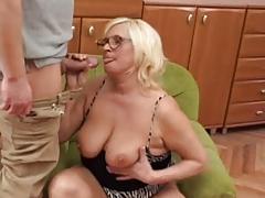 Chubby Blonde Granny Fucks..