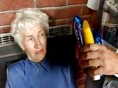 Prudish Granny with dildos