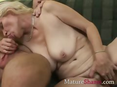 Layman MILF sucking pornstar..