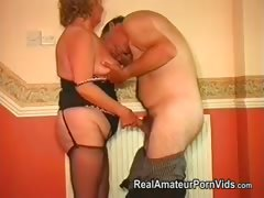 Heavy granny with her skimp..