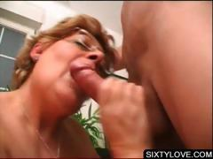 Blowjob on knees with mature..
