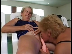 Mature Lesbians fuck by the..