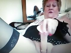 Hot granny teases on webcam 3