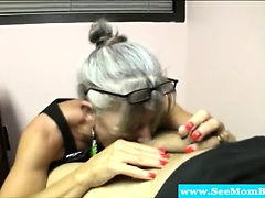 Blowjob loving mature sucks..