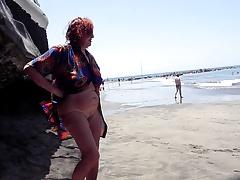 Beach, Grannies, Public Nudity