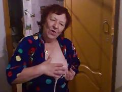 Russian grandmother dancing