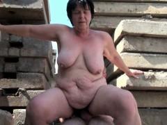 BBW grandma sedate enjoys..