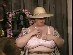 BBW hot Granny stripping and..