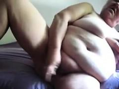 Chubby Granny Masturbating..