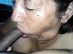 Latin Grandma Sucks Cock..