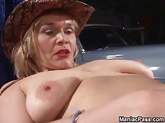 Lesbian gf seduces older..