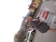 upskirt granny nearly parking