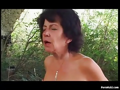 Granny Open-air Anal Mating