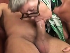 Busty Granny Banging With A..
